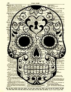 skull   cool idea for paper-cutting and visual journaling