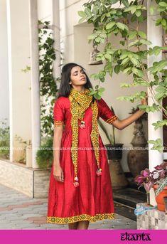 Ekanta - Dresses, Sarees & a lot Kalamkari Dresses, Ikkat Dresses, Dresses For Sale, Dresses Online, Summer Dresses, Couture Dresses, Fashion Dresses, Silk Dress, Dress Up