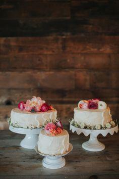 Single tier wedding cakes with peonies and ranunculus - several small wedding cakes Ranunculus Wedding, Georgetown Texas, Small Wedding Cakes, Fire And Ice, Recipe Ideas, Peonies, Wedding Stuff, Desserts, Recipes