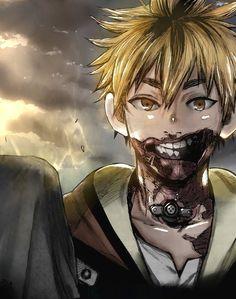 It makes you wonder why Kaneki went for his mouth Hide Tokyo Ghoul, Tokyo Ghoul Uta, Tokyo Ghoul Fan Art, Tokyo Ghoul Manga, Kaneki, Anime Guys, Manga Anime, Anime Art, Tokyo Ghoul Wallpapers