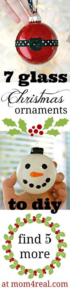 7 Easy Glass Globe Ornament Ideas from mom4real.com #HolidayIdeaExchange