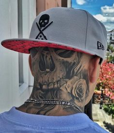 Side Neck Tattoo, Neck Tattoo For Guys, Chest Tattoo, Arm Band Tattoo, Tattoos For Guys, Future Tattoos, Tattoo Chicana, Chicano Art Tattoos, Gangsta Tattoos