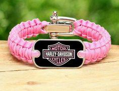 Pink Harley Davidson Motorcycle | Light Duty Survival Bracelet™ - Harley-Davidson® - Rose Pink