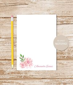 Family Notepad Personalized Notepad Stationary Personalized Stationery Custom Gift Editorial. Couples Personalized Note Pad