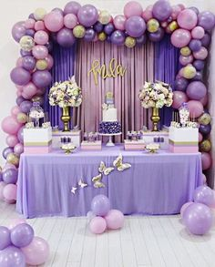 Baby shower balloons arch photo 47 Ideas for 2019 Lavender Baby Showers, Baby Shower Purple, Butterfly Baby Shower, Baby Girl Shower Themes, Girl Baby Shower Decorations, Baby Shower Princess, Gold Baby Showers, Balloon Decorations, Baby Shower Parties