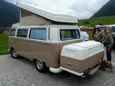 VW Bus trunk.