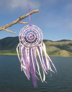 Dreamcatcher - Native American Dreamcatcher - 10 Inch Dream Catcher - Boho Dream Catcher - Crochet DreamCatcher - Mandala - Crochet Mandala