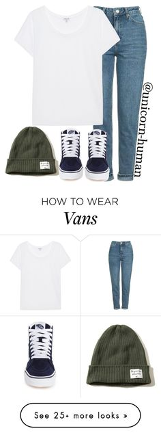 """Untitled #2602"" by unicorn-human on Polyvore featuring Topshop, Splendid, Vans and Hollister Co."