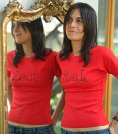 Love/hate t-shirt. Camiseta con mensaje oculto. Chulísima! Buen juego de #tipografía. #Advertising