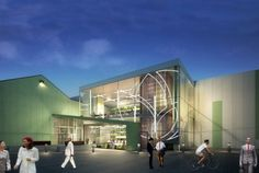 The largest indoor vertical farm in the world is set to open in Newark, New Jersey, later this year. The farm will reportedly be able to gro Urban Agriculture, Urban Farming, Urban Gardening, Building Facade, Green Building, New Jersey, Agriculture Verticale, Vertical Farming, Vertical Gardens