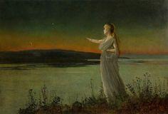 Ariadne, by John Atkinson Grimshaw