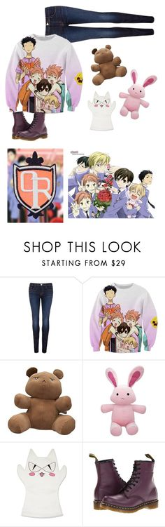 """""""Ouran High School Host Club"""" by unicorn1233 ❤ liked on Polyvore featuring J Brand, GE and Dr. Martens"""