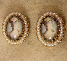 Vintage Marie Antoinette earrings Edwardian by vintagesparkles, $85.00