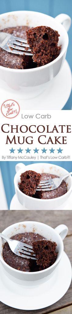 Low Carb Recipes | Low Carb Chocolate Mug Cake | Mug Cake Recipes | Low Carb Dessert