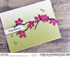 In The Cat Cave: A branch and some flowers | Display Stamping Blog Hop Day Seven