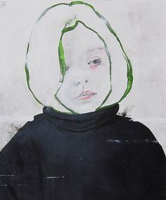 milk tooth by antoine cordet;acrylic on canvas, 18x15 in