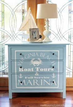 Home Decor Ideas South Africa though Home Decor Names of Home Decor Classic Style little Home Decor Clearance such Home Decor Discount Nautical Dresser, Nautical Furniture, Coastal Furniture, Coastal Decor, Painted Furniture, Diy Furniture, Furniture Stencil, Painted Dressers, Furniture Design