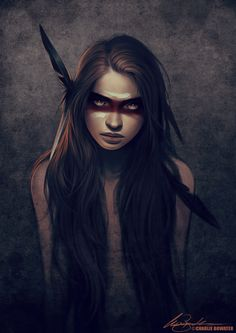 Howl by Charlie Bowate. Pretty awesome picture. She reminds me of my female characters in my stories.