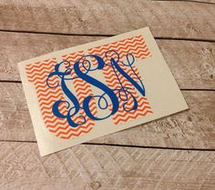 University of Florida Gators Monogrammed Personalized Car Decal Sticker on Etsy, $12.00