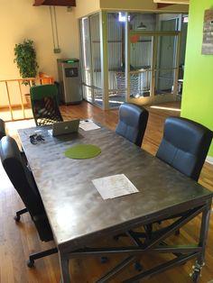 BRAD ALLEN   welding co: Custom steel office table