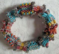 """""""lindora"""" beaded bead bracelet   design 2012 by Linda Gettings"""