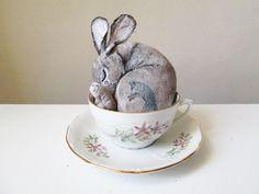 art doll animal hare textile one of a kind OOAK totem by MosMea  #artdoll #textileart #hare #marchhare #wonderland #fantasy #doll #handmade #ooakdoll www.mosmea.etsy.com