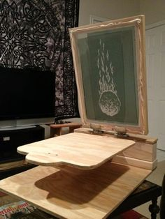 keeping it DIY... my hand-made one-color press I'd been itching to design and print my own line of shirts from age 10, and now as a l...