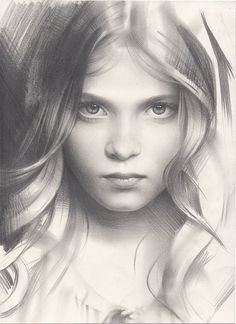 Portrait of a Girl - amazing #sketchbook #art by Andrey Belichenko