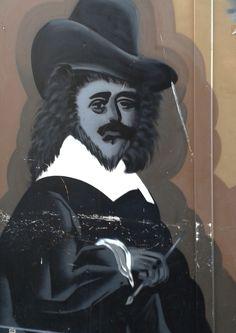Frans Hals, streetart in Haarlem - The Netherlands.