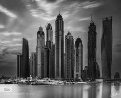 The Marina Skyline - Pinned by Mak Khalaf Dubai Marina B.W.... its taken on 7th July.....its a long exposure so tot of making converting it B/W.....Hope You Guys Like it.... Follow me:Rustamazmi Black and White Dubaiarchitectureblack and whitebuildingbuildingscitycityscapecloudsdayhighriselong exposuremarinaseaskyskylineskylinessunrisetowerurbanwater by RustamAzmi