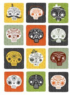 skull pattern | Sarah Walsh
