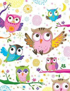 owl pattern ♥ by flamingrhino Decoupage, Owl Wallpaper, Mobile Wallpaper, Whimsical Owl, Owl Pictures, Owl Always Love You, Beautiful Owl, Owl Crafts, Owl Patterns