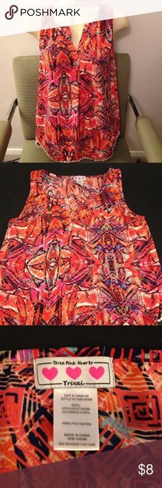 Dressy Summer Tank Size L Size large Trixxi summer tank top. Comment with any questions. Trixxi Tops Tank Tops
