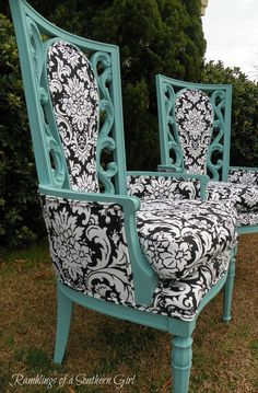 Love, Love, Love the Turquoise, Black and White!! The Ivy Cottage Blog