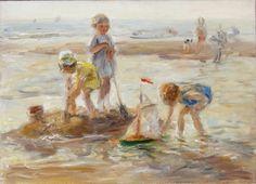 Jan Zoetelief Tromp, Spelende kinderen op het strand