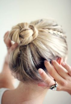tiny braid & braided bun