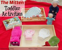 The Mitten Winter Toddler Activities- The Mitten by Jan Brett Toddler activities, Montessori Inspired for the Holiday and Winter www.naturalbeachliving.com