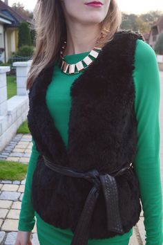 fluffy vest from Esprit