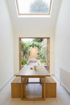 10 Narrow Dining Tables For A Small Dining Room: Table: Narrow Dining Tables For Cozy Dining Furniture – Modern House Terraced House, Interior Architecture, Interior And Exterior, Narrow Dining Tables, Small Dining, Narrow Kitchen, Dinning Table Design, Narrow House, Narrow Rooms