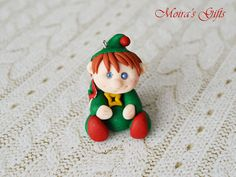 Funny elf Christmas figurine  Christmas in July  by MoirasStudio