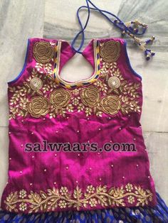 Zardosi Blouse Benaras Blue Lehenga - Indian Dresses