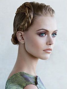 Hair how-to: sleek updo with a polished braid | allure.com
