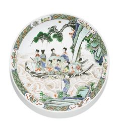 A famille verte dish, Qing dynasty, Kangxi period (1662-1722)