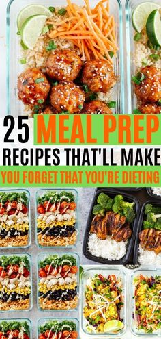 Easy meal prep recipes for the week. These recipes are also great for weight loss, and are beginner friendly. Meal prep ideas for breakfast, lunch, and dinner! Weight loss just got easier with these healthy meal prep ideas for the week. Weight Loss Meals, Healthy Recipes For Weight Loss, Diet Recipes, Healthy Food, Healthy Weight, Recipes Dinner, Lunch Recipes, Dinner Healthy, Meal Planning Recipes