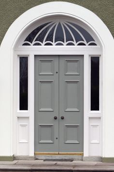 Great window above period door