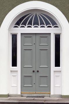 Great window above period door