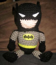 """Super Adorable crochet Amigurumi Batman. $35.00, via Etsy."" #Amigurumi  #crochet"