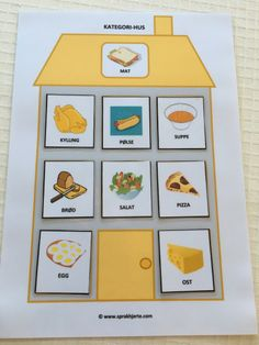 Kategori-hus – Språkhjerte English Activities, Book Activities, Social Stories Autism, Pictogram, Paper Toys, In Kindergarten, Montessori, Preschool, Barn