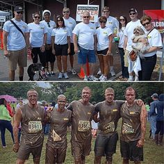 The Carter Machinery team at this year's Annual Marine 5k Mud Run and JDRF Roanoke Walk to Cure Diabetes! #Sept2013 #MudRun #CarterMachinery #Roanoke