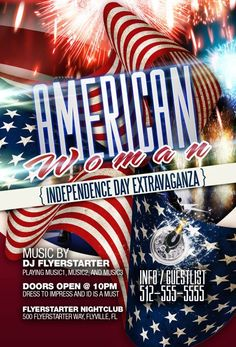 american woman 4th of july party flyer flyer design templates flyerstartercom